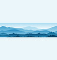 horizontal landscape with fog forest mountains vector image vector image