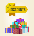 hot discounts price reduction clearance sale arrow vector image