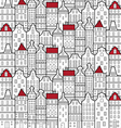 house amsterdam pattern vector image