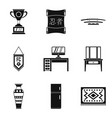 household duties icons set simple style