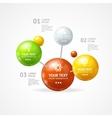 infographic molecule vector image vector image