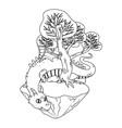 isolated dragon cartoon design vector image vector image