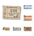 isolated object of ticket and admission logo set vector image