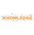 knowledge icons for education graphic vector image