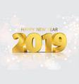 lights bokeh background with party 2019 happy new vector image vector image
