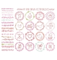 Love heart doodle brushesValentinewedding wreath vector image vector image