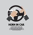 Man Honking The Horn In a Car vector image vector image