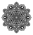 Mandala Black And White vector image vector image