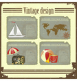 marine Travel set vector image vector image