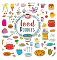 Meal and ware doodle set vector image vector image