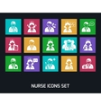 Medicine Doctors and Nurses Icons Set vector image vector image