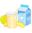 Milk shake with fruit vector image