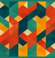 retro mosaic seamless pattern vector image vector image