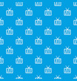 retro tv pattern seamless blue vector image vector image