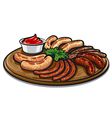 roasted sausages vector image vector image
