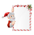 santa cartoon xmas sign vector image vector image