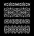 set of abstract seamless embroidery lace ribbons vector image vector image