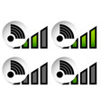 signal stength indicator set internet wi-fi vector image vector image