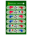 Soccer Tournament of Brazil 2014 Group E vector image vector image