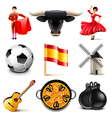 Spain icons set vector image