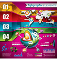 technology design set infographic elements vector image vector image