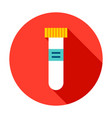 test tube circle icon vector image vector image