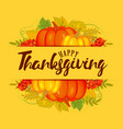 thanksgiving autumn background vector image vector image