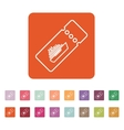 The cruise ship tickets icon Travel symbol vector image