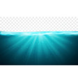 transparent underwater blue ocean background vector image vector image
