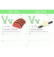 v for venison and for vanilla bean vector image vector image