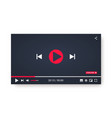 video player template for web or mobile apps vector image