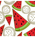 watermelon fruit pattern seamless template vector image vector image