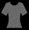 white dotted lady t-shirt icon vector image