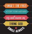 with phrase Smile alwaysl vector image vector image