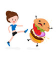 young angry sport fitness shapely woman vector image