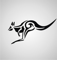 Tribal Kangaroo vector image