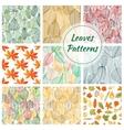 Stylish foliage seamless decorative patterns vector image