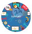 Support center emblem vector image