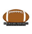 a ball for american football closeup vector image vector image