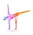 abstract womans silhouette yoga pose asana vector image vector image