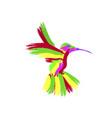 abstraction masks the hummingbird vector image vector image