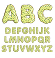 Alphabet cartoon letters font sweet donut style vector image vector image