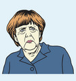 angela merkel cartoon vector image vector image