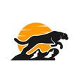 animal cheetah logo on prowl vector image vector image
