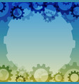 background with a gear element industrial vector image