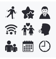Businessman person icon Group of people symbol vector image vector image