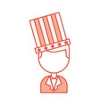 businessman with american hat isolated icon vector image vector image