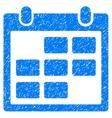 Calendar Month Grainy Texture Icon vector image vector image
