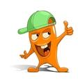 Cartoon orange character alien vector image