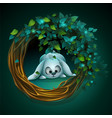 cartoon wreath of vines and vector image